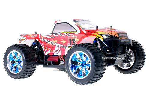 Himoto Brushless Truck Silver Red 2.4GHz AANBIEDING!